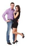 Happy elegant couple posing Royalty Free Stock Photography