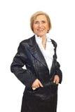 Happy elegant senior woman Royalty Free Stock Photos