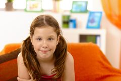 Happy elementary age girl Royalty Free Stock Images