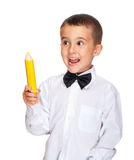 Happy elementary student boy Royalty Free Stock Image