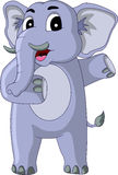 Happy elephant cartoon Stock Photos