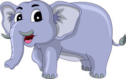 Happy elephant cartoon Stock Image