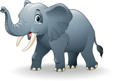 Happy elephant cartoon. Illustration of Happy elephant cartoon royalty free illustration