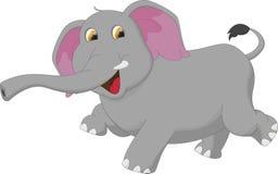 Happy elephant cartoon. Illustration of happy elephant cartoon isolated on white royalty free illustration