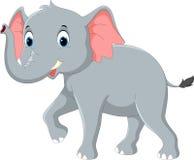 Happy elephant cartoon. Vector illustration of happy elephant cartoon stock illustration