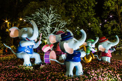Happy elephant Stock Images