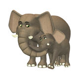 Happy Elephant Family Royalty Free Stock Photography