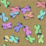 Happy elephant generated seamless texture Stock Photo