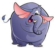 Cartoon happy purple elephant Royalty Free Stock Photo