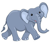 Happy elephant Royalty Free Stock Image