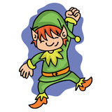 Happy elf with green costume Stock Photography