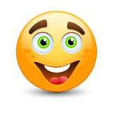 Happy  emoticon. Happy emoticon, easy editable  illustration Royalty Free Stock Images
