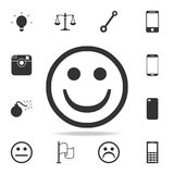 Happy emoticon icon. Detailed set of web icons. Premium quality graphic design. One of the collection icons for websites, web desi. Gn, mobile app on white Royalty Free Stock Photos