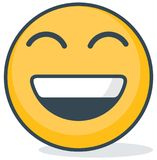 happy emoticon. Isolated emoticon. royalty free stock photo