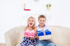 Happy emotional kids Royalty Free Stock Image