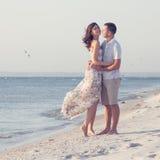 Happy emotive adult couple Stock Images