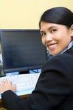 Happy employee royalty free stock photography