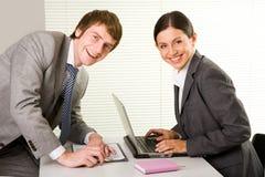 Happy employees Stock Image