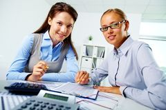 Happy employees Stock Images