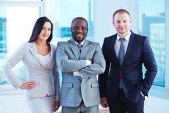 Happy employees royalty free stock photos
