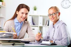Happy employees Royalty Free Stock Images