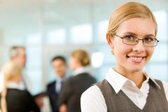 Happy employer Stock Images