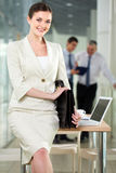 Happy employer Royalty Free Stock Photo