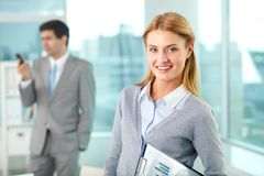 Happy employer Royalty Free Stock Photography