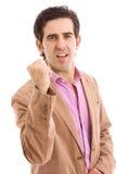 Happy energetic businessman Stock Photography