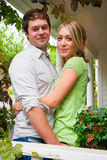 Happy Engaged Couple Royalty Free Stock Photos