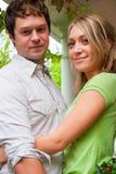 Happy Engaged Couple Stock Photo
