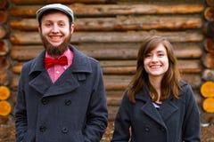 Happy Engaged Couple Portrait Royalty Free Stock Image