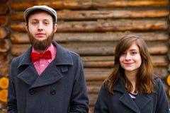 Happy Engaged Couple Portrait Stock Photo