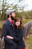Happy Engaged Couple Portrait Stock Image