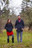 Happy Engaged Couple Portrait Stock Photos