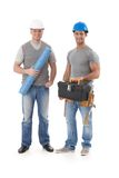 Happy engineer and builder workman Stock Images