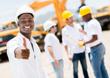 Happy engineer with thumbs up Stock Photography