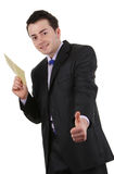 Happy envelope guy Stock Image