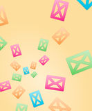 Happy envelopes. Abstract background made out of happy color envelopes Stock Photo