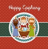 Happy epiphany design Stock Photography