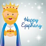 Happy epiphany design Stock Images
