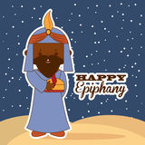 Happy epiphany. Design, vector illustration eps10 graphic Royalty Free Stock Photography