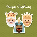 Happy epiphany. Happy ephipany over green background vector illustration Stock Images
