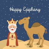 Happy epiphany Stock Photography