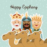 Happy epiphany. Happy ephipany over sky background vector illustration Stock Images