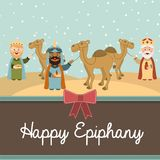 Happy epiphany. Happy ephipany over  sky background vector illustration Royalty Free Stock Images