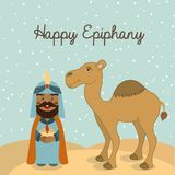 Happy epiphany Stock Image