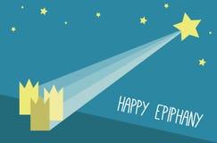 Happy Epiphany vector card Stock Photos