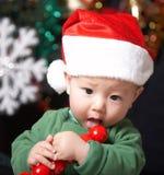 Happy etaing child Stock Photos