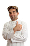 Happy ethnic man thumbs up success Royalty Free Stock Photo